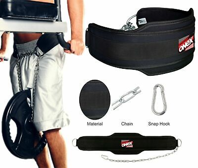 Onex Pro Dipping & Pull Up Weight Belt With Chain Gym Weighted Dip/Dips/Ups