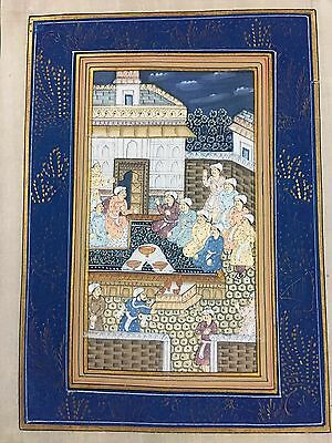 Indo Persian Old Antique Miniature Handmade Painting, Vintage India Art #7023