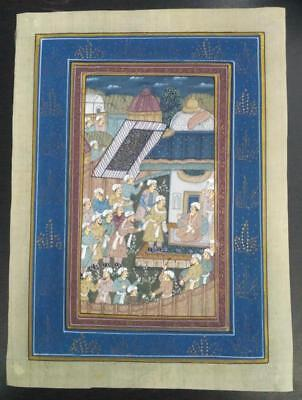Indo Persian Painting Miniature Old Antique Handmade Vintage Art Silk #23227