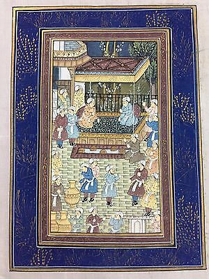 Indo Persian Old Antique Miniature Handmade Painting, Vintage India Art #7020
