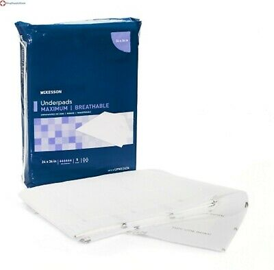 MCKDS Underpad McKesson Max 24 X 36 Inch Disposable Heavy abs case of 70