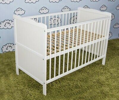 Wooden Baby Cot Bed  ✔ Converts to Junior Bed - 120 x 60 cm