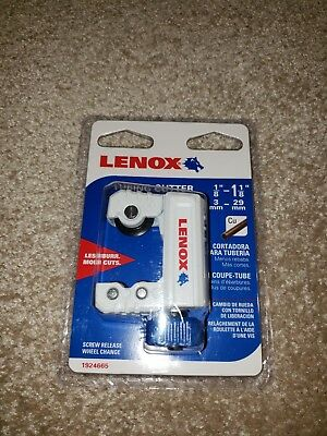 Lenox Copper Tube Cutter 1 1/8 in w/ Stainless Steel Wheels Plumbing Tools New