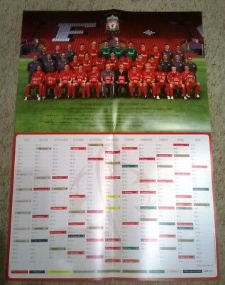 Liverpool F.c. - European Champions 2005 Fixture List And Team Picture