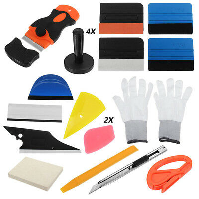Standard Car Wrap Vinyl Tools Kit Squeegee Bag Razor Wrapping Gloves 4 Magnets