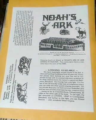 Old Noah's Ark Ship Hotel Grand View Point Lincoln Highway Bedford PA. Poster