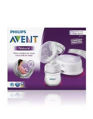 PHILIPS AVENT COMFORT SINGLE ELECTRIC NATURAL BREASTPUMP Free Post Fast!