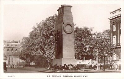 The Cenotaph Whitehall London Sw1 Vintage Rp Real Photo Postcard