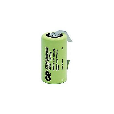 1-4x Gp GP300SCHT 3000mah 1.2v Nimh Sub C With Tags Rechargeable Battery Gp