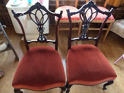 Two Victorian Bedroom Chairs