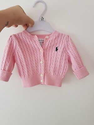 Ralph Lauren Baby Girl Cardigan 0-3months uses but excellent condition