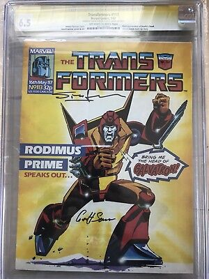 marvel G1 TRANSFORMERS UK #113 CGC SS First Appearance DEATHS HEAD Comic Book