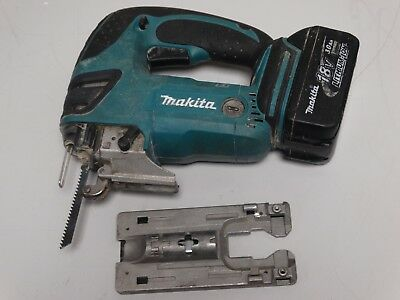 MAKITA 18v JIGSAW BODY DJV180 WITH 3.0Ah BATTERY (missing screw to attach plate)