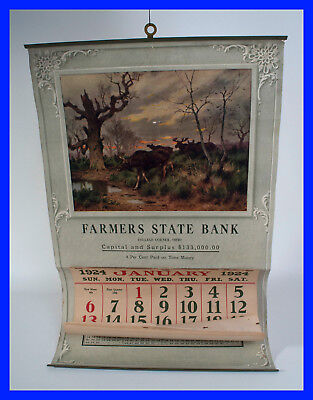 "Vintage Calendar, ""Farmers State Bank"", Ohio, 1924 (a leap year)!"