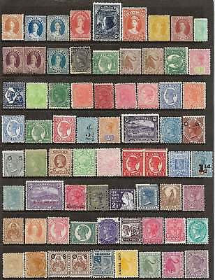 AUSTRALIAN STATES - ALL COLONIES REPRESENTED VALUABLE 70 MINT STAMPS No Reserve
