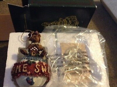 Bailey Home Sweet Home 1998 Boyds Bears Ornament  #25708  Box New in Package