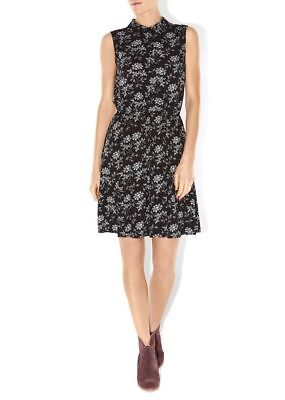 Hobbs Nw3 Womens 'constable' Black & White Floral Print Dress *uk 8/eu 36*