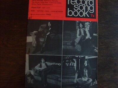 Record Song Book Dated 1/12/1970 Featuring Free.