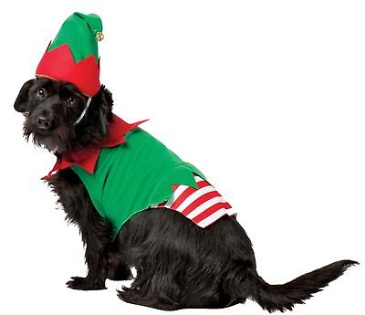 Santa's Helper Christmas Elf Dog Pet Costume Large 24-32Lbs.