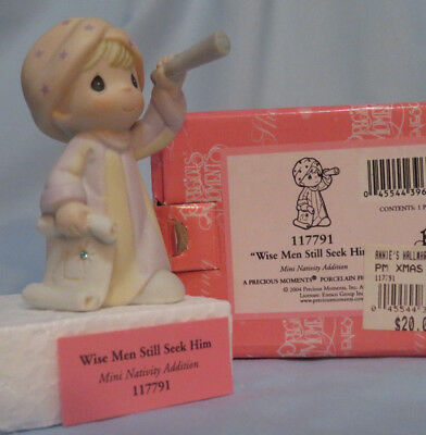 "Precious Moments ""Wise Men Still Seek Him"" for Mini Nativity set boy monocular"