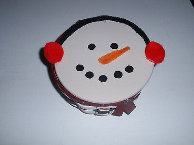 Longaberger SNOWMAN LID FOR THE 2017 JOLLY BELLY SNOWMAN BASKET, NEW!!!