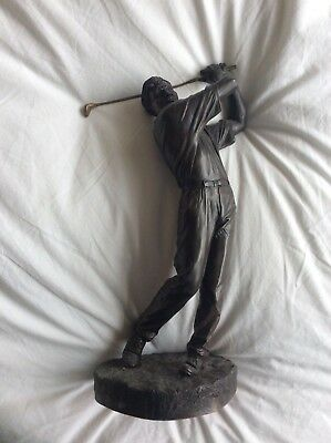 Gorgeous Heredities Bronze Golfer'Off the Tee' by David Hermes. Lovely weight.