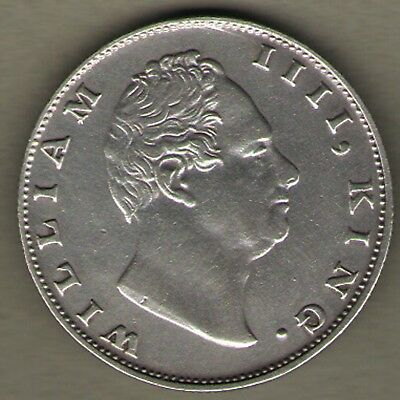 India 1835 British East India Company King William IIII One Rupee Silver Coin