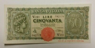Italy 50 lire 1944 banknote