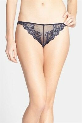 NEW Only Hearts Helena Stuart So Fine Lace Thong Panty 50941 Amethyst Purple M/L