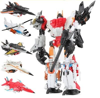 Superion Transformer 5 In 1 Autobot Robot Model Action Figure Toy Aerial Jets