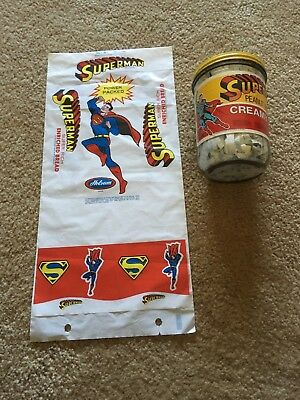 Superman Bread Wrapper 1966 And Peanut Butter 1981 Advertising
