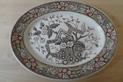 aesthetic movement antique oval plate. Beatrice Wedgwood. vgc