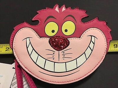 Disney Cheshire Cat Purse Wallet With Strap, Rare, New With Tags