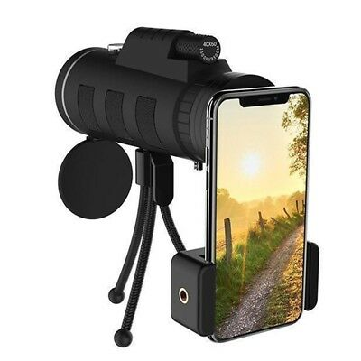 Zoom Monocular Telescope Scope For Smartphone With Compass Phone Clip Tripod