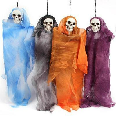 Halloween Party Scary Skull Doll Haunted House Spooky Creepy Novelty Decoration