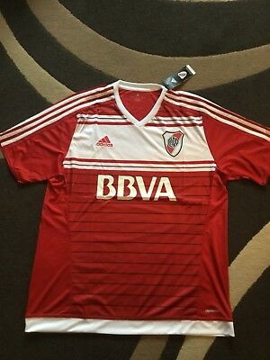 Brand New With Tags River Plate Football Shirt XL Adult Adidas Climacool (4)