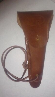 US WW1 M1916 COLT 1911 .45 HOLSTER PREMIUM DRUM DYED LEATHER unmarked