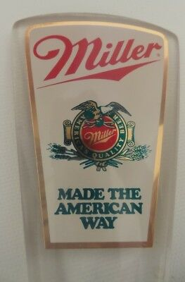 """Miller """"Made the American Way"""" Lucite Tap Handle"""