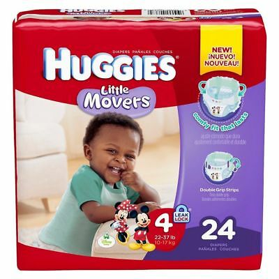 MCKDS Baby Diaper Huggies® Little Movers Tab Closure Size 4 Disposable Heavy