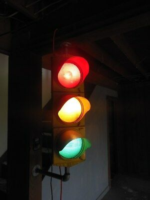 REVISED $ Crouse-Hinds Traffic Signal Red Yellow Green Light Vintage Workin,,