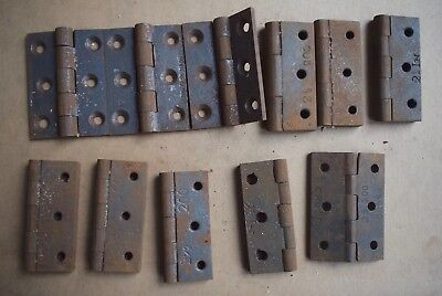 Vintage Cast Iron Hinges, 11 at 2.1/2 inches