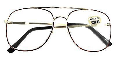 7f2686c5cd9 Black - Brown Or Brown Tortoise Shell   Gold Aviator Reading Cheaters  Glasses