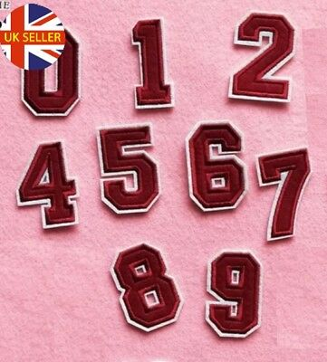 Number Patch Patches Jersey Iron on / Sew on Retro Alphabet Embroidery Clothes