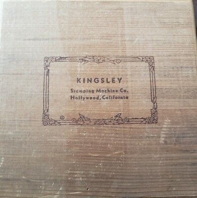 KINGSLEY HOT FOIL  LOT OF2 BOXES OF STAMP LETTERS -18 PT Goudy cursive