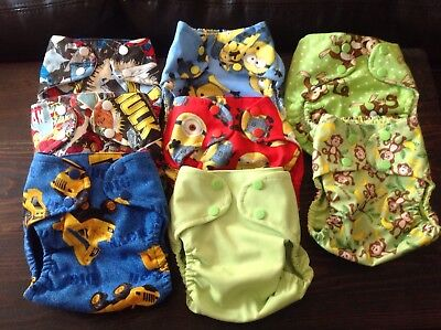 NEW Handmade Pocket Diapers Lot of 16 size Small Assorted Designs and Colors