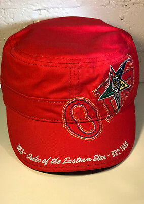 Order of the Eastern Star OES Captain's Hat- Red-New!