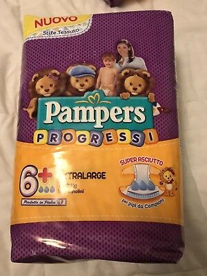 Non-Vintage Pampers Progressi Size 6+ Diapers From Italy  One Diaper Per Order