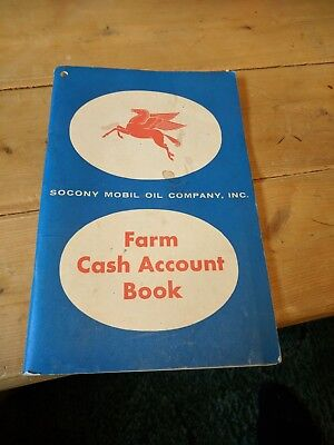 Vtg Mobil Flying Red Horse Farm Cash Account Sales Record Book. 1956