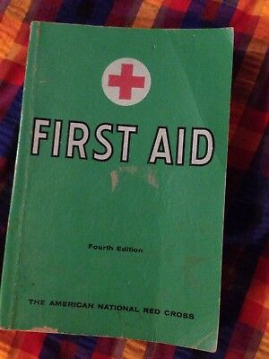 American Red Cross First Aid Textbook 4th Ed Revised 1957, 249 Illustrations