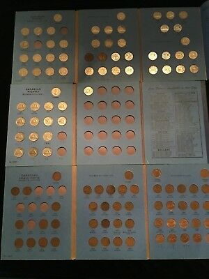 Lot #C1 - Canada Whitman Small Cent & 2 - 5 Cents Books 102 Coins
